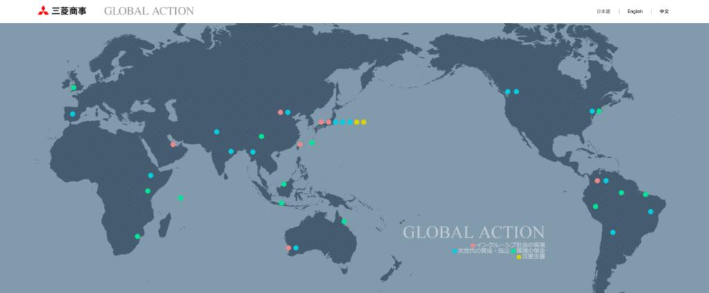 三菱商事が世界中でおこなっている社会貢献活動