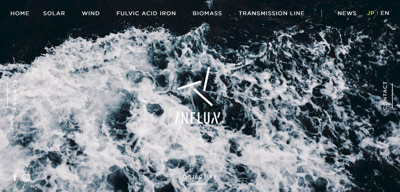 Influx.inc Homepage screenshot